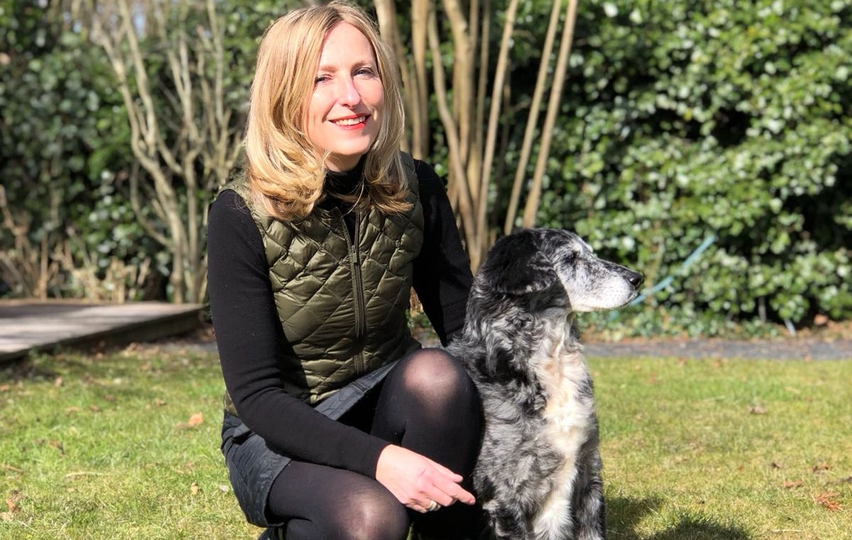 Ingeborg met hond
